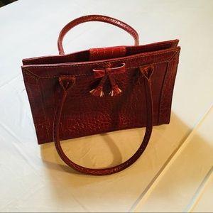 Liz Claiborne Textured Snakeskin Red Purse